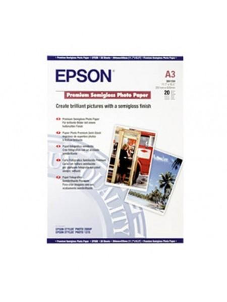 Фотопапір Epson A3 Premium Semiglossy Paper (C13S041334)