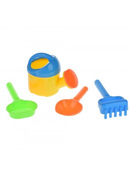 Набір для гри з піском Same Toy з Лійкою 4 шт (жовтий)HY-1513WUt-1