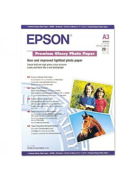 Фотопапір Epson A3 Premium Glossy Paper (C13S041315)
