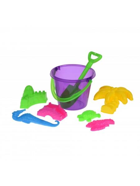 Набір для гри з піском Same Toy 8 шт фіолетове відерце HY-1204WUt-2
