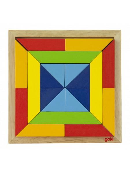 Пазл дерев'яний goki Світ форм-квадрат 57572-3