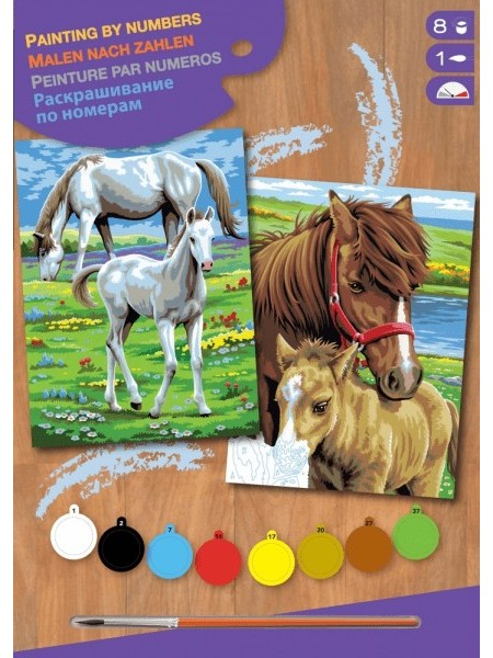 Набір для творчості Sequin Art PAINTING BY NUMBERS JUNIOR-PAIRS Коні SA0215