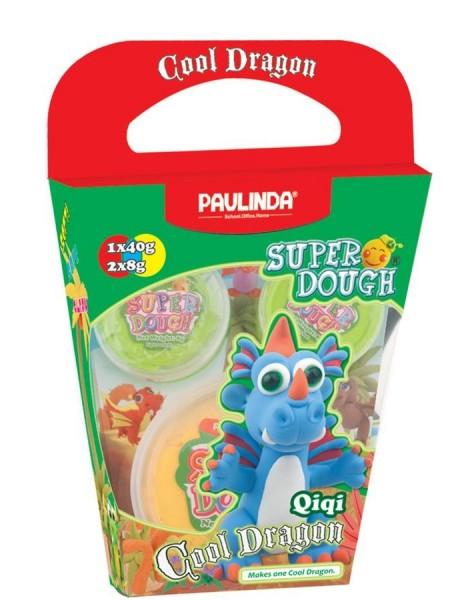 Маса для ліплення Paulinda Super Dough Cool Dragon Дракон блакитний PL-081378-14