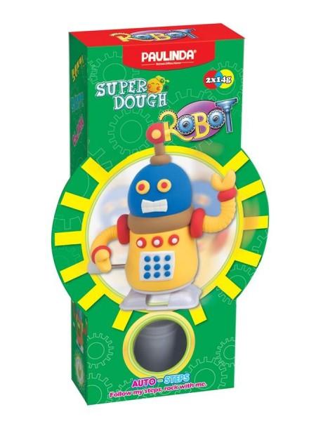 Маса для ліплення Paulinda Super Dough Robot заводний механізм (крокує) , жовтий PL-081178-2