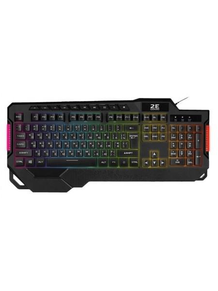 Клавіатура ігрова 2E GAMING KG340 LED USB Black Ukr