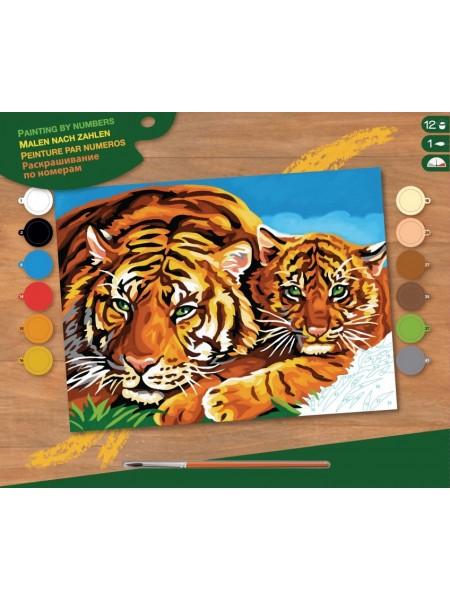 Набір для творчості Sequin Art PAINTING BY NUMBERS SENIOR Тигри SA1039