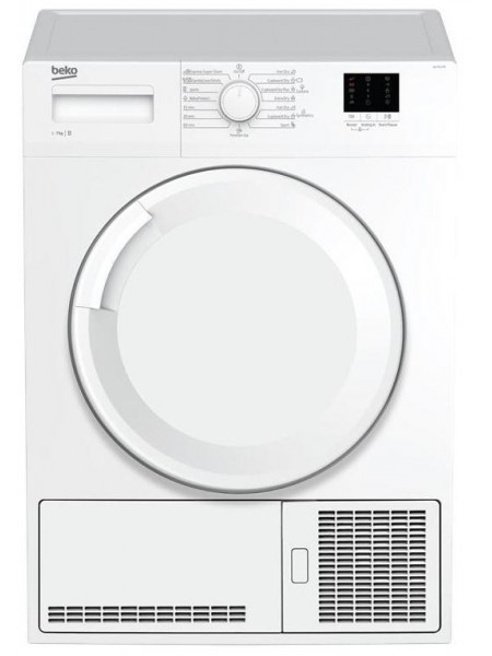 Сушильний барабан Beko DU7111PA - Шх53 см/7 кг/конденсаційний/LED/15 прогр/білий