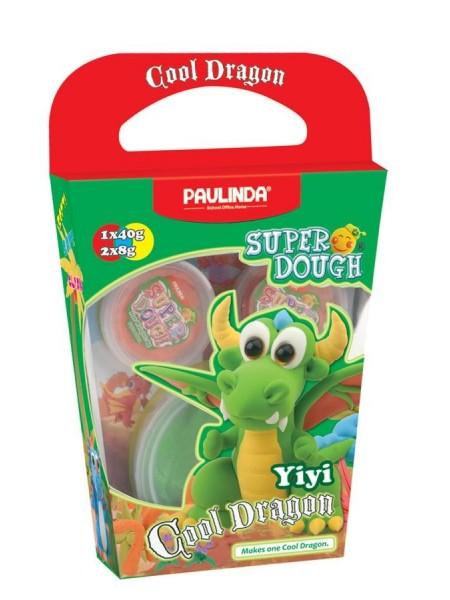 Маса для ліплення Paulinda Super Dough Cool Dragon Дракон зелений PL-081378-13