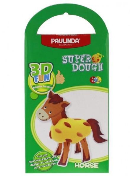 Маса для ліплення Paulinda Super Dough 3D FUN Кінь PL-081289