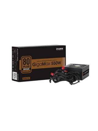 Блок живлення Zalman 550-GVII GigaMax (550W),80+Bronze,aPFC,120мм,24+(4+4),5xSATA,2xPCIe,+3,1xFDD
