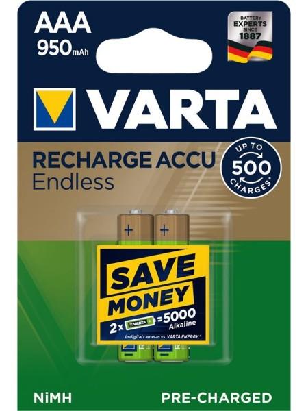 Аккумулятор VARTA RECHARGEABLE ACCU ENDLESS  AAA 950mAh BLI 2 NI-MH (56683101402)