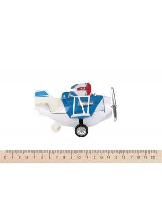 Літак металевий інерційний Same Toy Aircraft синій SY8013AUt-2