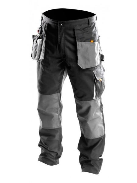Штани робочіNeo, розмірXL / 56, посилення з тканини Oxford, посилені кишені, потрійні шви (81-220-