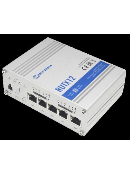 Індустріальний 4G LTE Cat.6 маршрутизатор, 2 SIM Teltonika RUTX12 (RUTX12000000)