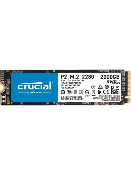 Твердотiльний накопичувач SSD M.2 Crucial 2TB NVMe PCIe 3.0 x4 P2 2280