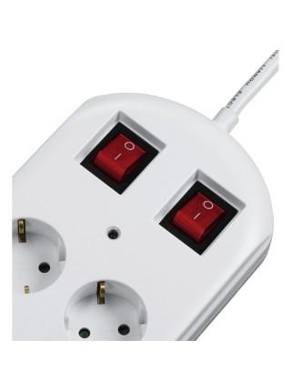 Мережевий фільтр HAMA 10XSchuko з вимикачем 3G*1.5мм., 2M, білий (00137233)