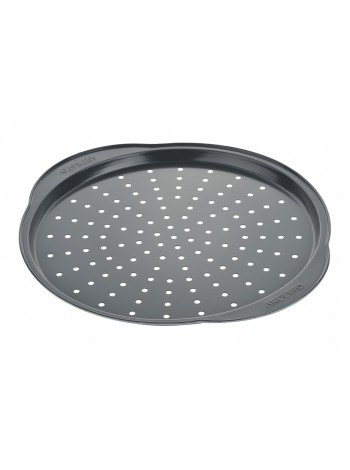 Форма для випікання Ardesto Tasty baking піцци 37*33*1,8 см, сірий,голубий, вуглецева сталь (AR2307T