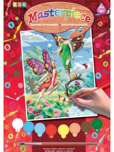 Набір для творчості Sequin Art PAINTING BY NUMBERS JUNIOR Феї SA0126