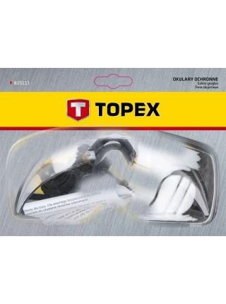 Окуляри захисні TOPEX 82S111 білі, регульовані дужки (82S111)