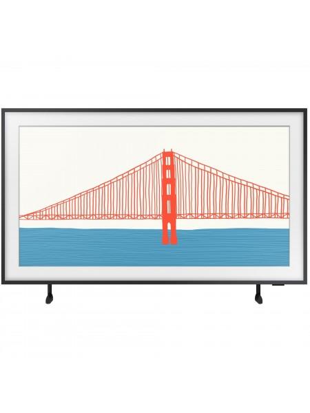 """Телевiзор 55"""" QLED 4K Samsung QE55LS03AAUXUA Smart, Tizen, Black, The Frame, Optional Bazel Colour"""