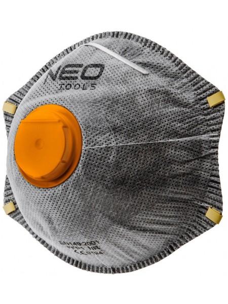 Маска NEOз активованим вугіллям FFP2, з клапаном, 3 шт. (97-301)