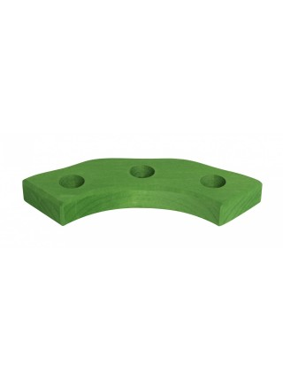nic Підсвічник святковий дерев'яний напівкруглий зелений NIC522874