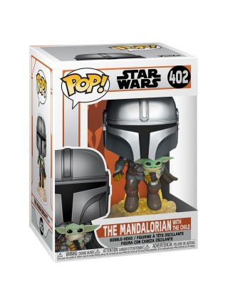 Фігурка Funko POP! Bobble Star Wars Mandalorian Mando Flying w/Jet 50959