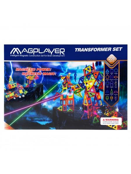 Дитячий конструктор MagPlayer 208 од. (MPB-208)