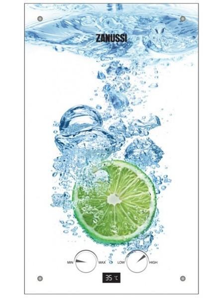 Водонагрівач газовий проточний Zanussi GWH 10 Fonte Glass Lime