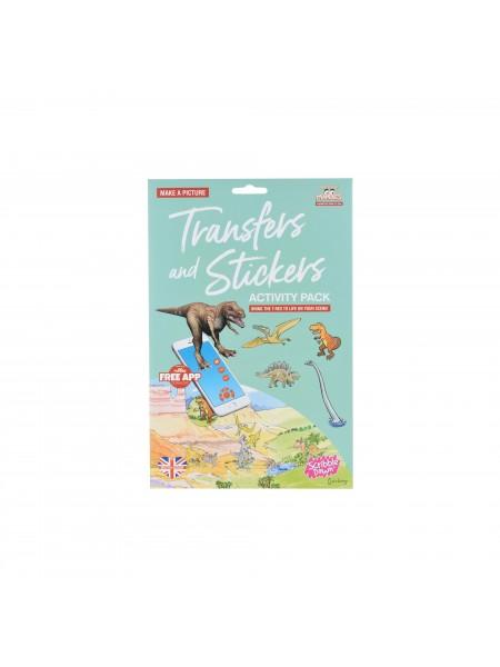 Набір перевідних наклейок Scribble Down з онлайн додатком Динозаври SD/22