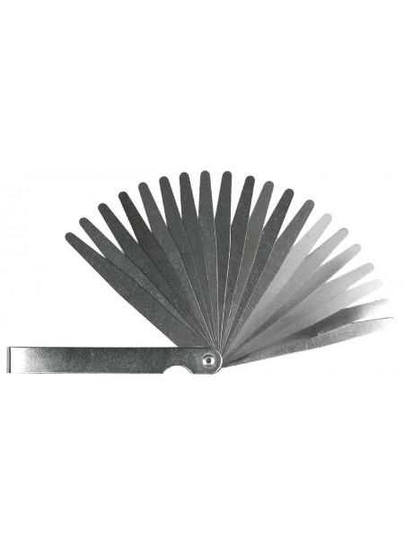 Щупи вимірювальні TOPEX 0,05-1 мм, набір 20 пластин, крок 0.05мм