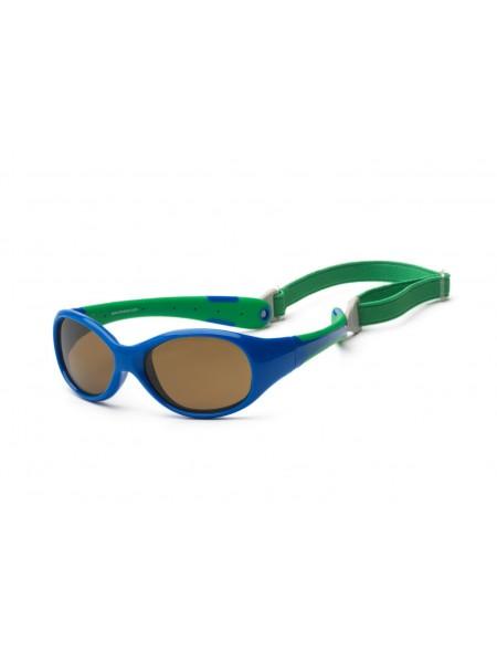 Дитячі сонцезахисні окуляри Koolsun синьо-зелені серії Flex (Розмір: 3+)