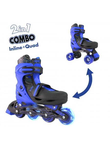Ролики Neon Combo Skates Синій (Размір 30-33)