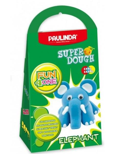Маса для ліплення Paulinda Super Dough Fun4one Слоненятко (рухливі очі) PL-1543