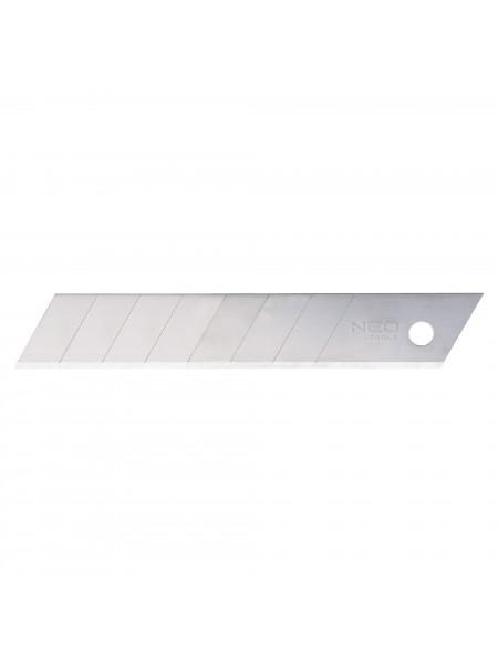Леза NEO 64-010 змінні відламуються, 18 мм, набір 10 шт.