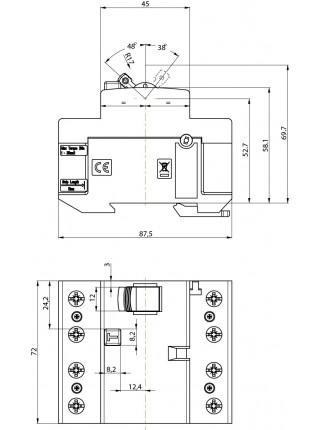 Реле диференційне ETI (ПЗВ) 4р EFI-P4 40/0,3 тип AC (10kA)