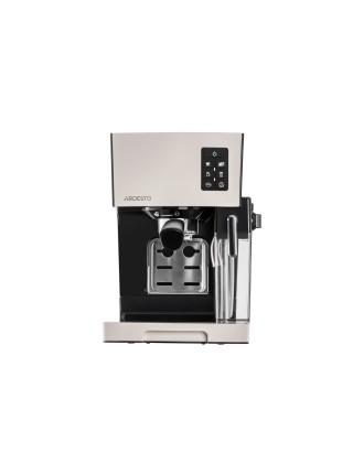 Кавоварка Ardesto ECM-EM14S - 1450Вт/ріжкова/ механіка+електроніка/ резервуар 1,4л/чорний+крем