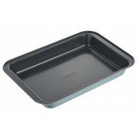 Форма для випікання Ardesto Tasty baking 37,5*25,5 см прямок., сірий,голубий, вуглецева сталь (AR230