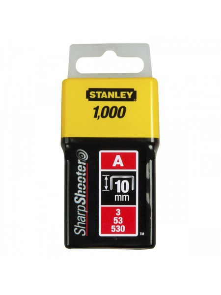 """Скоби Stanley """"Light Duty"""", тип А, 10х11.3мм, 1000шт"""