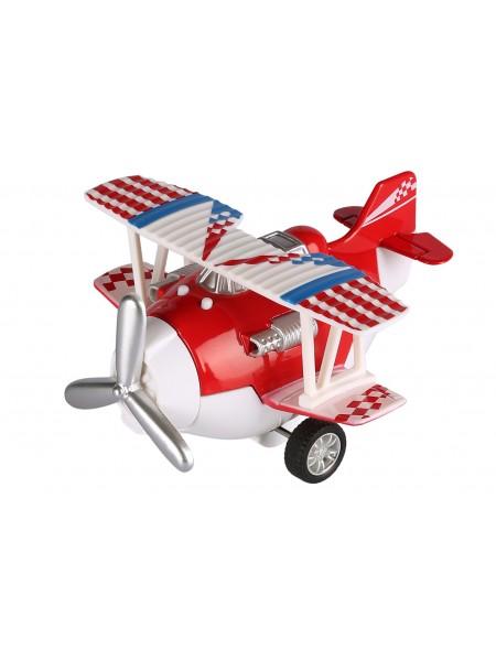Літак металевий інерційний Same Toy Aircraft червоний зі світлом і музикою SY8012Ut-3