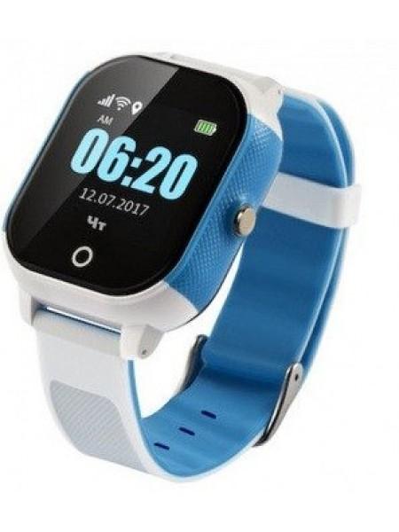 Дитячий телефон-годинник з GPS трекером GOGPS К23 синій з білим (K23BLWH)