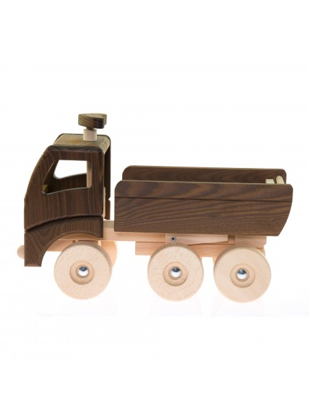 Машинка дерев'яна goki Самоскид (натуральний) 55914