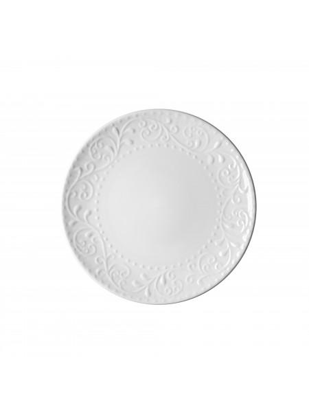 Тарілка обідня Ardesto Olbia, 26 см, White, кераміка (AR2926WC)