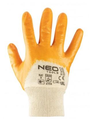 Рукавички NEO робочі, бавовна, частково покриті нітрилом, р. 8 (97-631-8)
