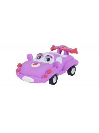 Маса для ліплення Paulinda Super Dough Racing time Машинка рожева інерційний механізм PL-081161-2