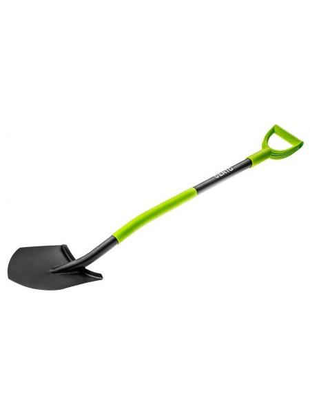 Лопата VERTO, металева ручка, з тримачем (15G010)