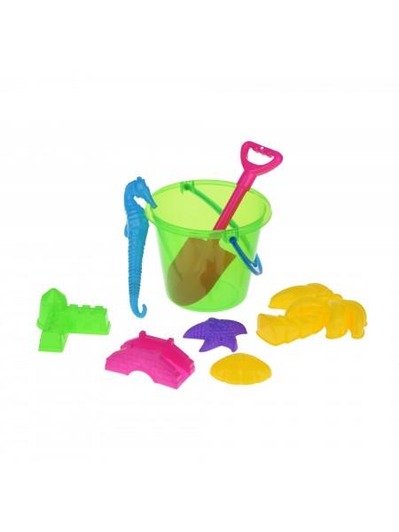 Набір для гри з піском Same Toy 8 шт зелене відерце HY-1204WUt-3