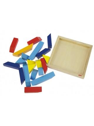 Пазл дерев'яний goki Світ форм-трикутники 57572-1