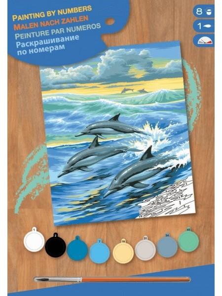 Набір для творчості Sequin Art PAINTING BY NUMBERS JUNIOR Дельфіни SA0031