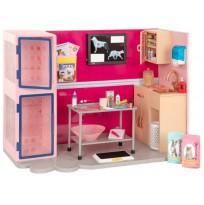 Our Generation Игровой набор Ветеринарная клиника, розовый BD35140Z